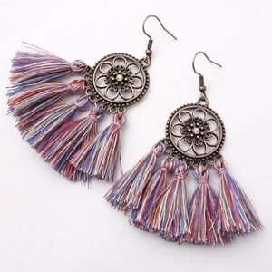 Jewelry - 🥀Multicolor Boho Tassel Style Earrings